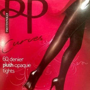 Pretty Polly Suspended Tights Black One Size Fits Most #18 $25